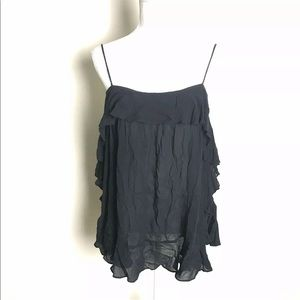 Intimately Free People Ruffle Tunic Blouse Size S